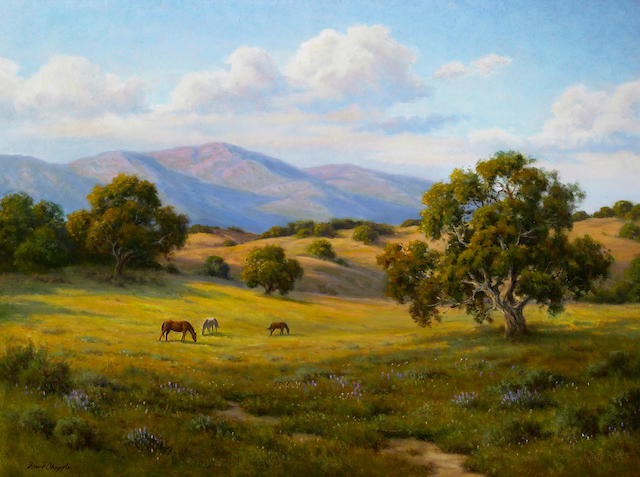 (n/a) David Chapple (American, born 1947) Early Evening 30 x 40in