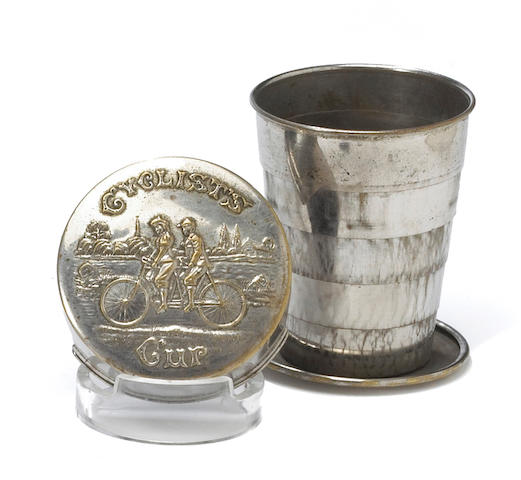 An original Cyclist's Cup, circa 1900,
