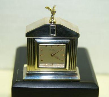 A fine Brietling Rolls-Royce presentation desk clock, German,