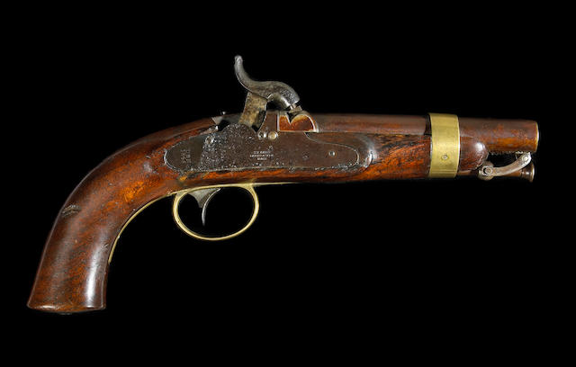 A U.S. Navy Model 1842 percussion pistol by N.P. Ames