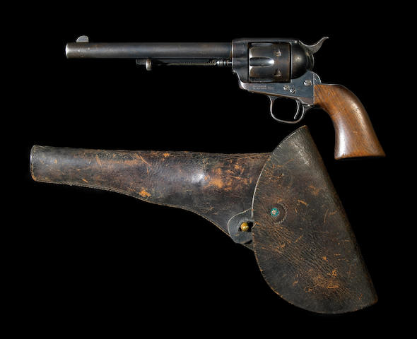 An early U.S. Colt single action army revolver