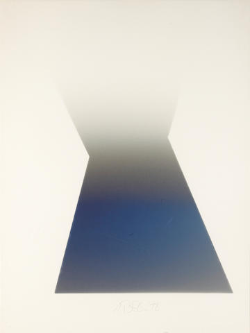 (n/a) Larry Bell (American, born 1939) KF 3, 1978 42 x 32in