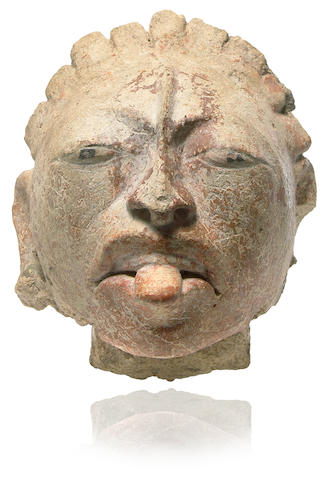 A Mayan stucco head