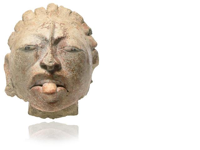 Maya Stucco Head,<br>Late Classic, ca. A.D. 550-950