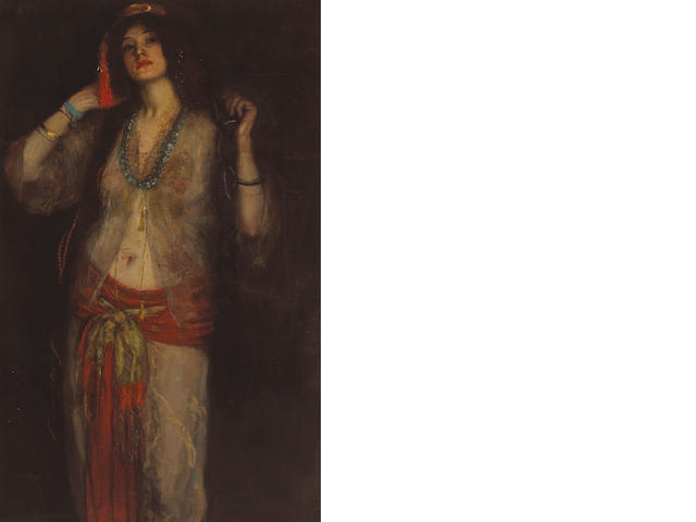 Manner of Robert Henri Spanish dancer, ca. 1893-1895 48 x 30 1/4in