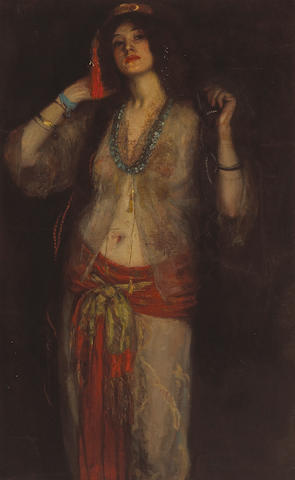 Manner of Robert Henri Spanish dancer, ca. 1893-1895 48 x 30 1/4in