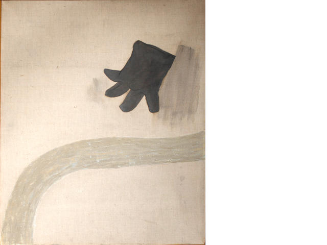 Prunella Clough (British, 1919-1999) Landscape with glove, 1981 36 x 28in