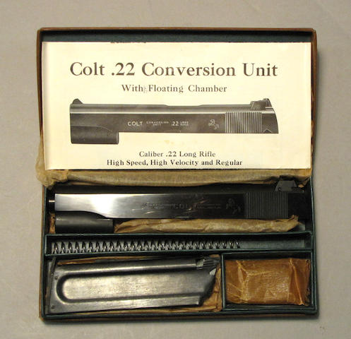 A boxed post-war Colt .22 caliber conversion kit