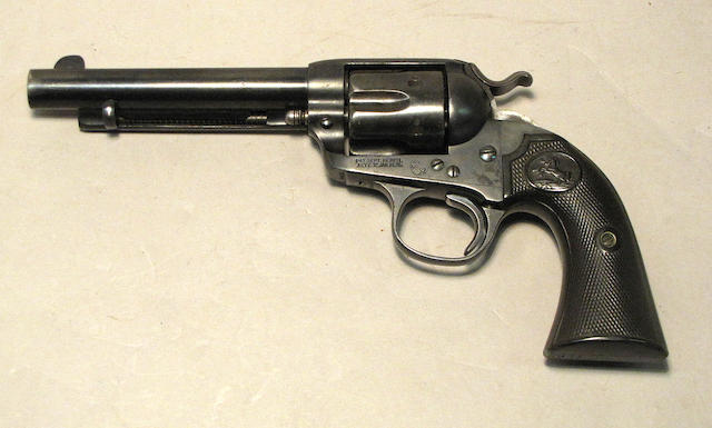 A Colt Bisley single action army revolver