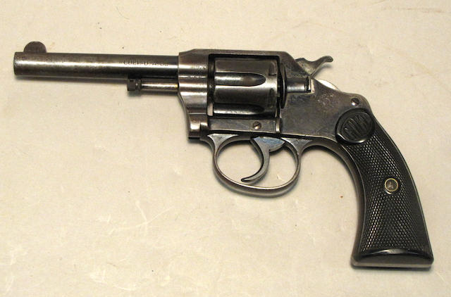 A Colt New Police double action revolver