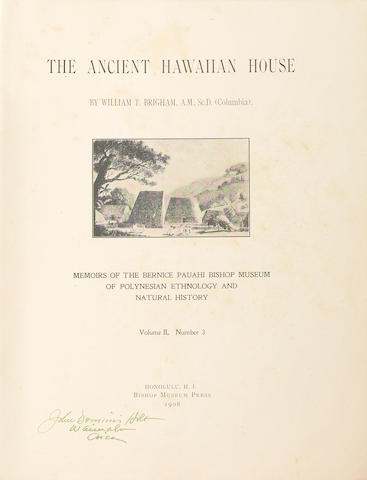"Memoirs of the Bernice Pauahi Bishop Museum, Two Volumes of ""The Ancient Hawaiian House"""