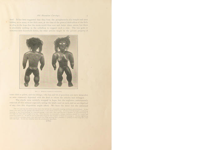 "Memoirs of the Bernice Pauahi Bishop Museum, ""Old Hawaiian Wood Carvings""250"