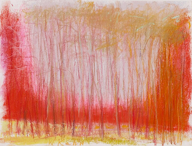 Wolf Kahn (American, born 1927) Red and spindly 9 x 12in
