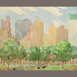W. H.  Mann Central Park, New York 29 1/2 x 26 3/4in (74.9 x 67.9cm)
