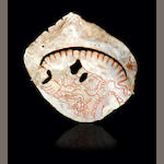 Mayan Incised Shell Pendant,<br>Late Classic, ca. A.D. 550-950