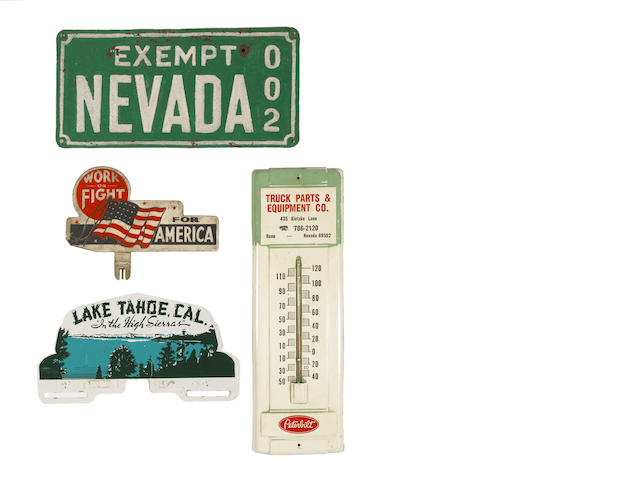 A Nevada Exempt license plate,