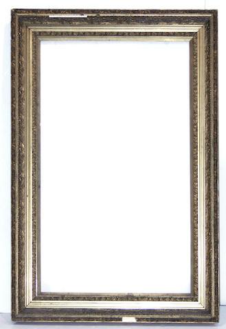 A Victorian gilt gesso rectangular frame late 19th century