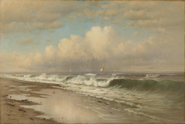 (n/a) Francis Augustus Silva (American, 1835-1886) Afternoon, Long Beach 20 x 30in