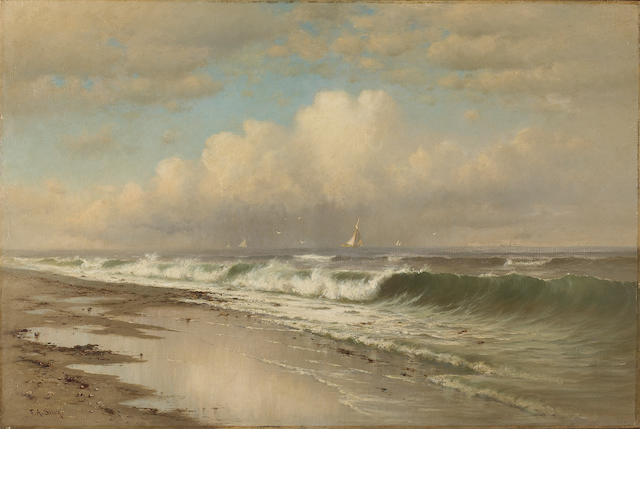 Francis Augustus Silva (American, 1835-1886) Afternoon, Long Beach 20 x 30in
