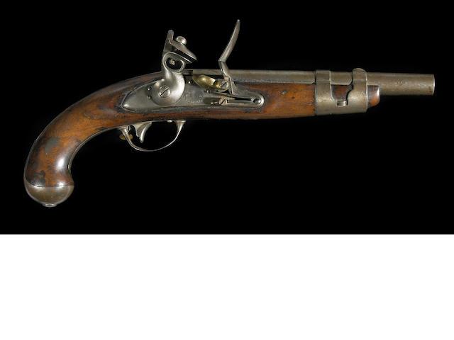 A U.S. Model 1816 flintlock martial pistol by Simeon North