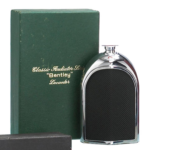 A Bentley Decanter by Ruddspeed, British, 1960s,