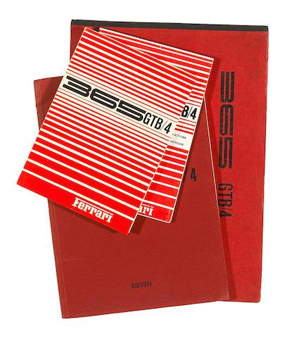 A good selection of original Ferrari 365 GTB/4 technical literature,