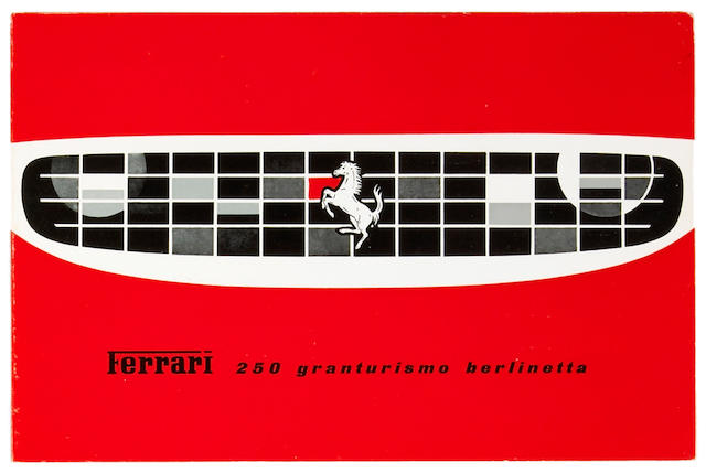 An original Ferrari 250 Granturismo Berlinetta sales brochure,