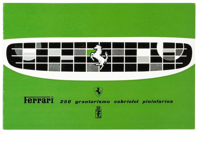 An original Ferrari 250 Granturismo Cabriolet Pininfarina sales brochure,