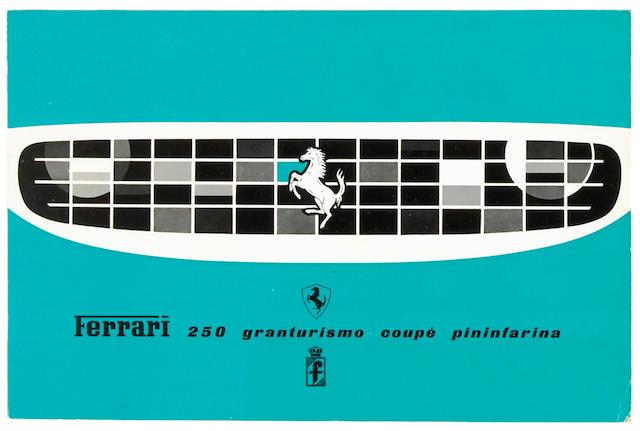 An original Ferrari 250 Granturismo Coupe Pininfarina sales brochure,