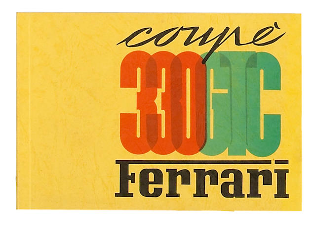 A rare original Ferrari 330 GTC Coupe spare parts catalog,