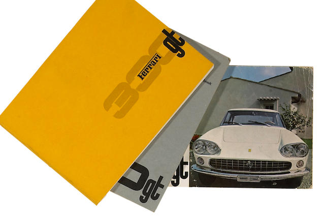 An original Ferrari 330 GT sales brochure,
