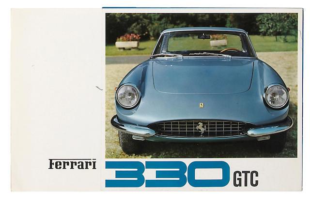 An original Ferrari 330 GTC sales brochure,