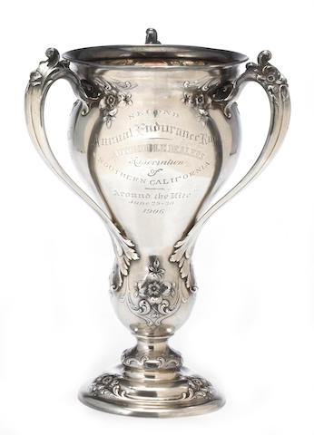 The Los Angeles Examiner Cup for the Second Annual Endurance Run Around 'The Kite', June 29th-30th 1906,