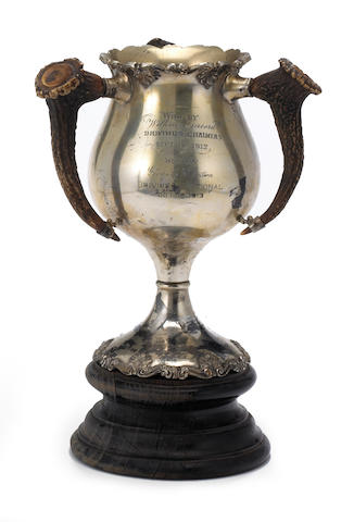 A fine early three-handled motor racing trophy, circa 1912,