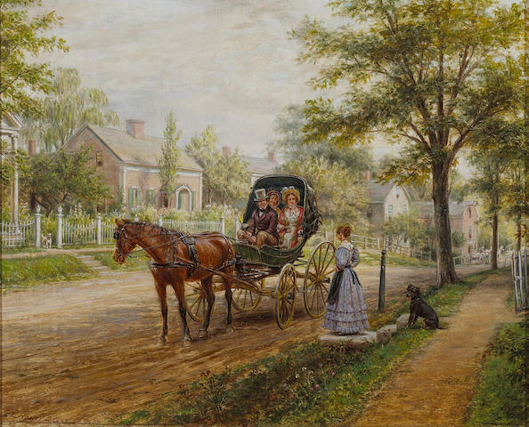 Edward Lamson Henry (American, 1841-1919) A Sunday visit 13 x 16in