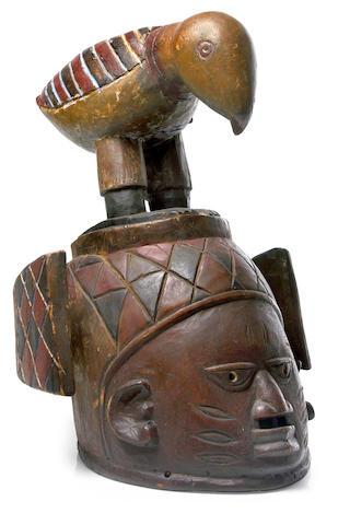 A Yoruba Gelede Mask, Nigeria