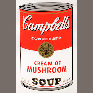 After Andy Warhol (American, 1928-1987); Campbell's Mushroom Soup;