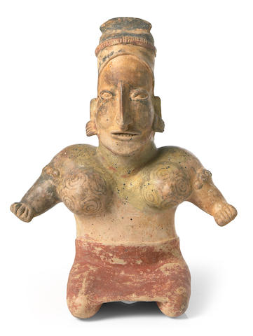 Jalisco Seated Female Figure, Ameca Style,<br>Protoclassic, ca. 100 B.C. - 250 A.D.