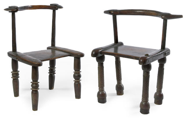 Two Senufo Chairs, Ivory Coast