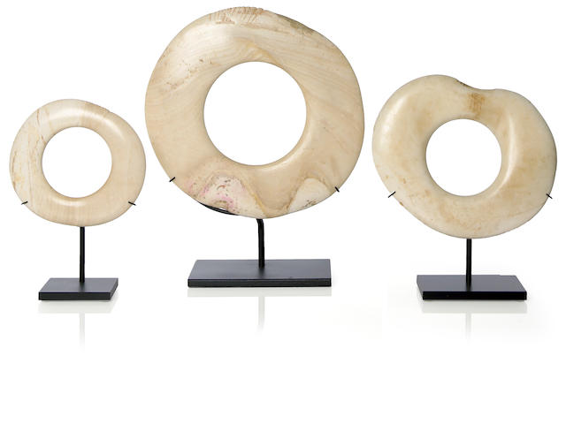 Three Shell Currency Rings, Papua New Guinea