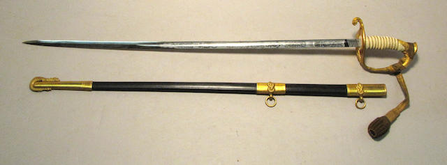 A U.S. Naval officer's sword