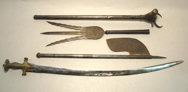 A lot of four Indo-Persian weapons