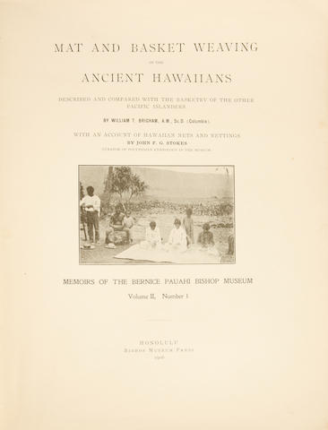 "Memoirs of the Bernice Pauahi Bishop Museum, ""Hawaiian Mat and Basket Weaving, and Net and Netting"""