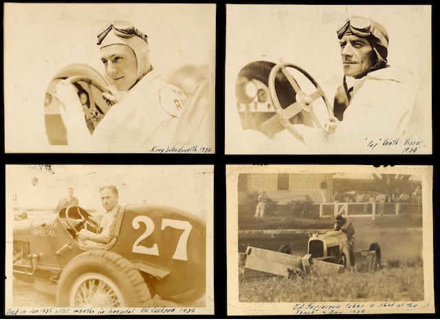A comprehensive Midget Auto Racing photograph album, 1930s,