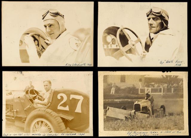 A comprehensive Midget Auto Racing photograph album, 1930s,