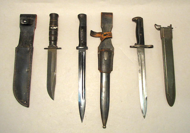 A lot of three World War II edged weapons