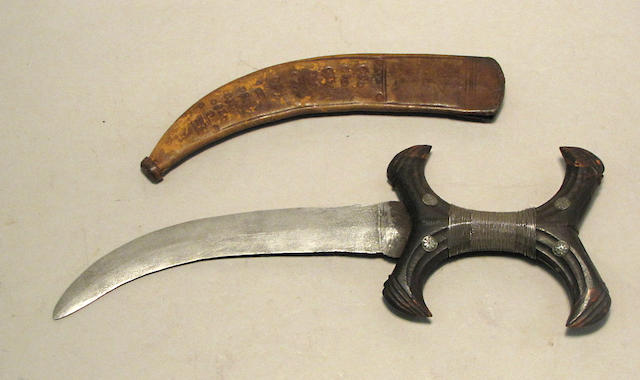 A silver-mounted Sudanese dagger