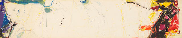 Sam Francis (American, 1923-1994) Untitled, Sketch for Chase Manhattan Mural, 1959 (SF-59-089) 21 x 99 3/4in