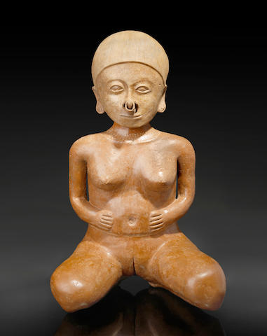 Monumental Chinesco Female Figure, Type A, <br>Protoclassic, ca. 100 B.C. - A.D. 250