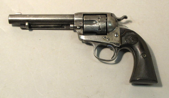 A Colt Bisley model single action army revolver